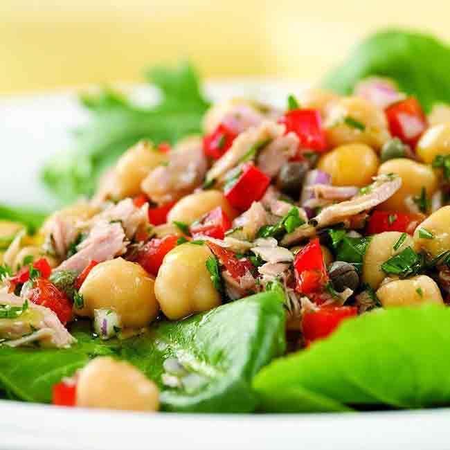 Mediterranean Tuna Antipasto Salad