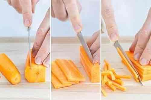 Julienne knife cut