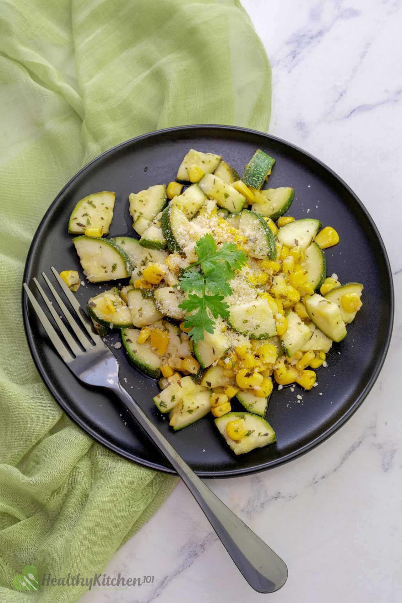 Parmesan Zucchini Corn Salad