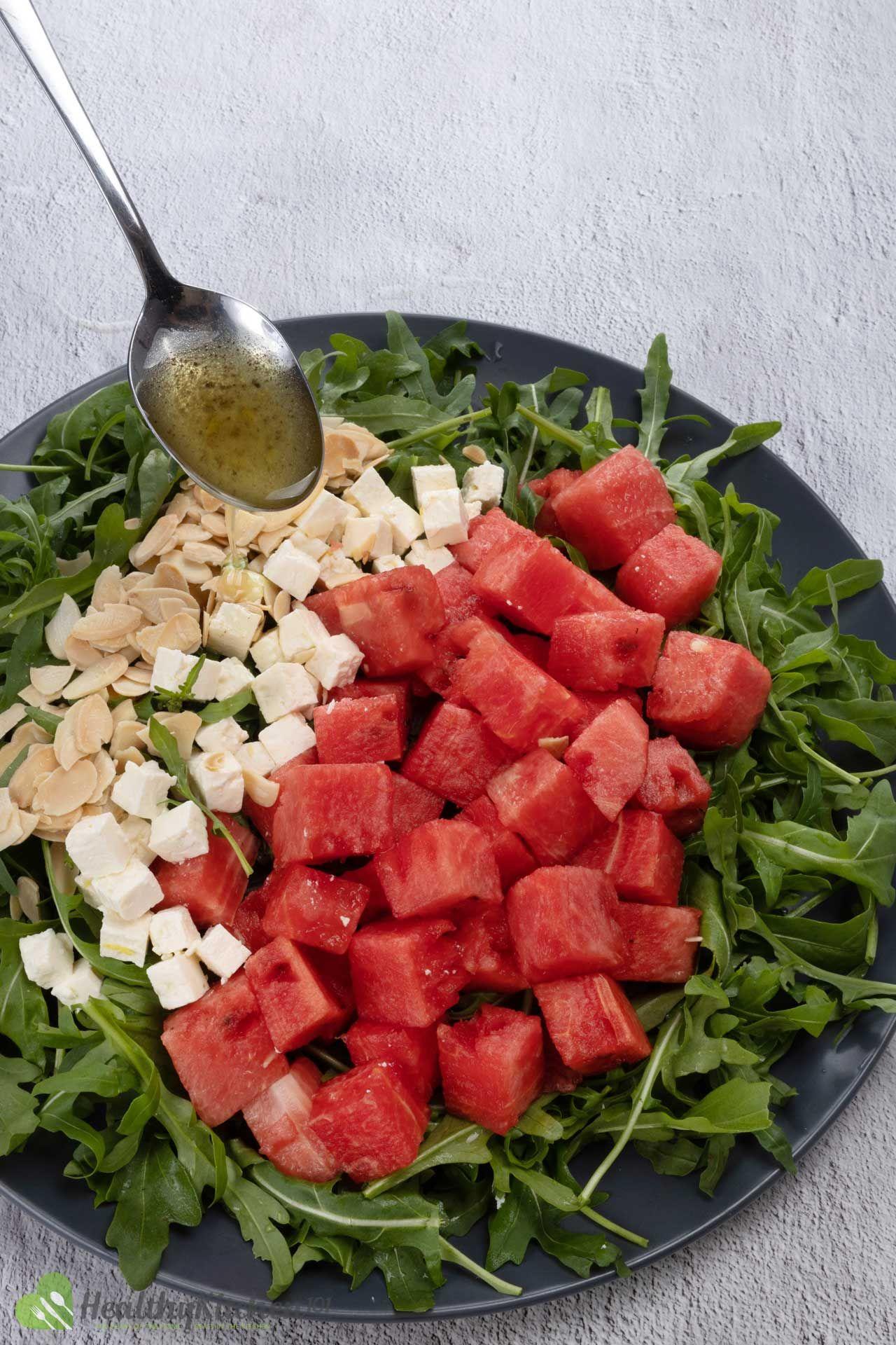 Watermelon Arugula Salad Recipe