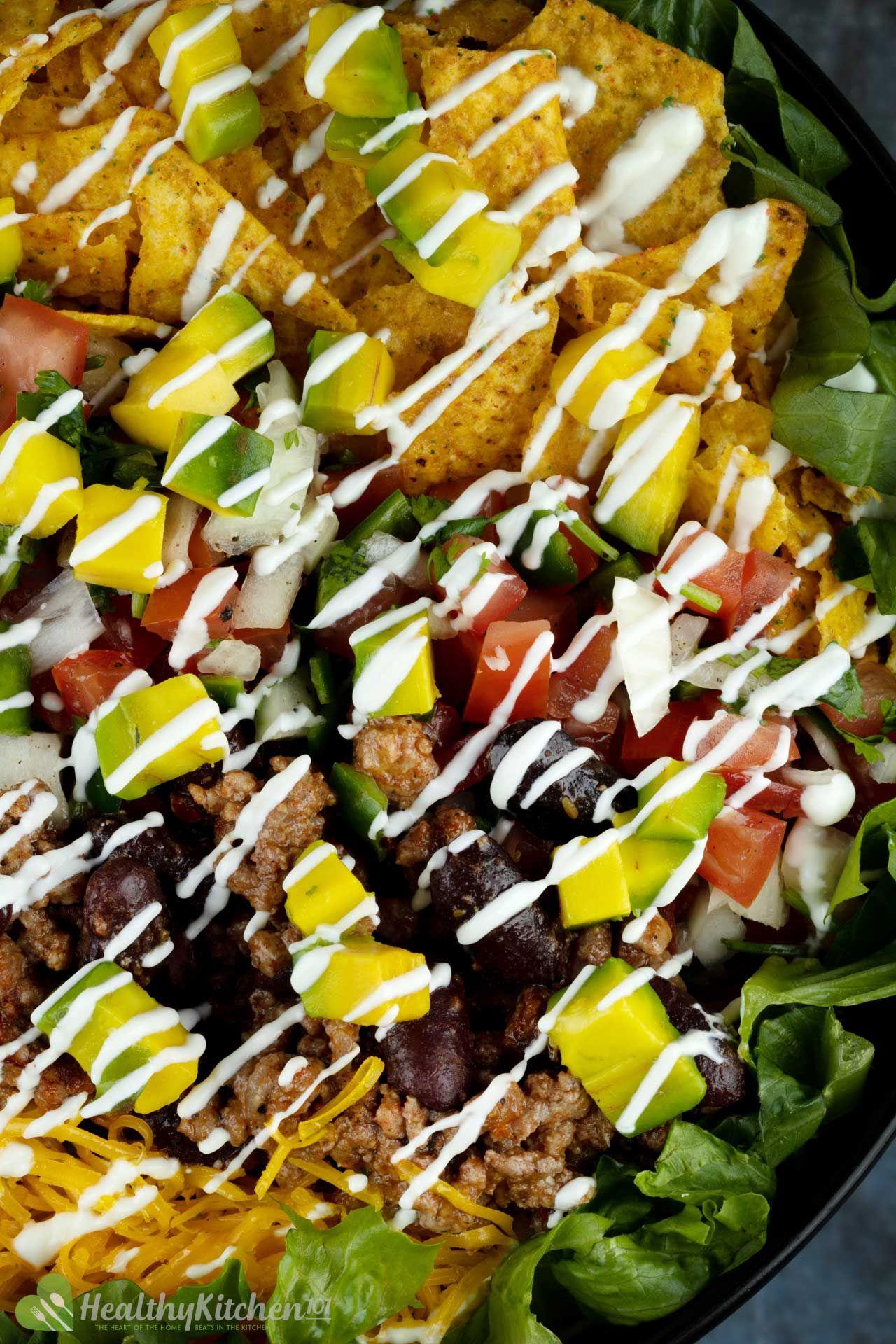 Taco Salad Recipe mcronutrients