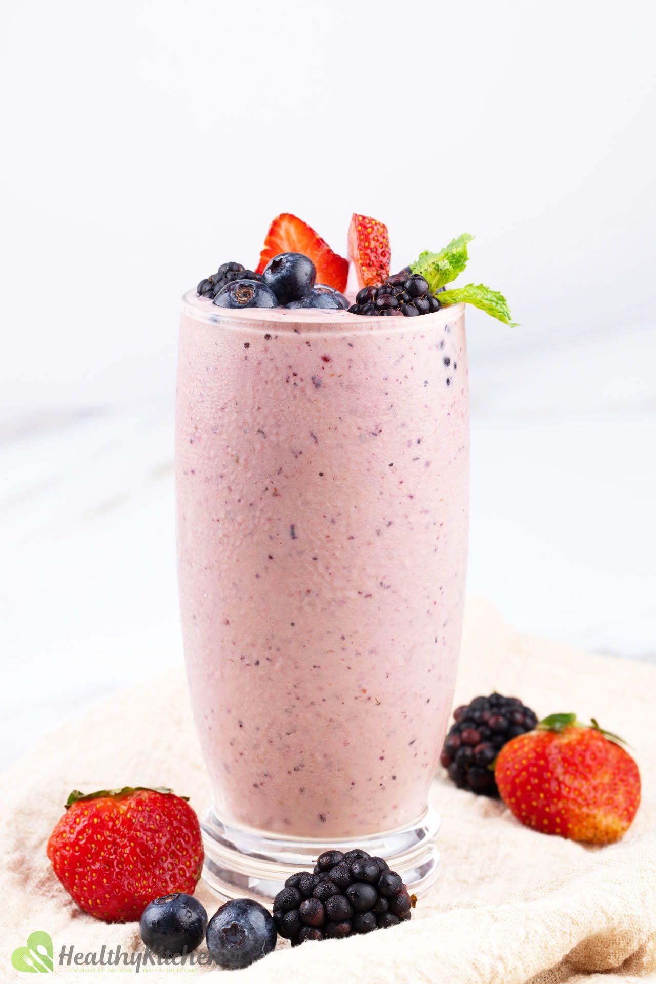 Frozen Fruit Smoothie Recipe - A Refreshing Berry-Mango Summer Blend