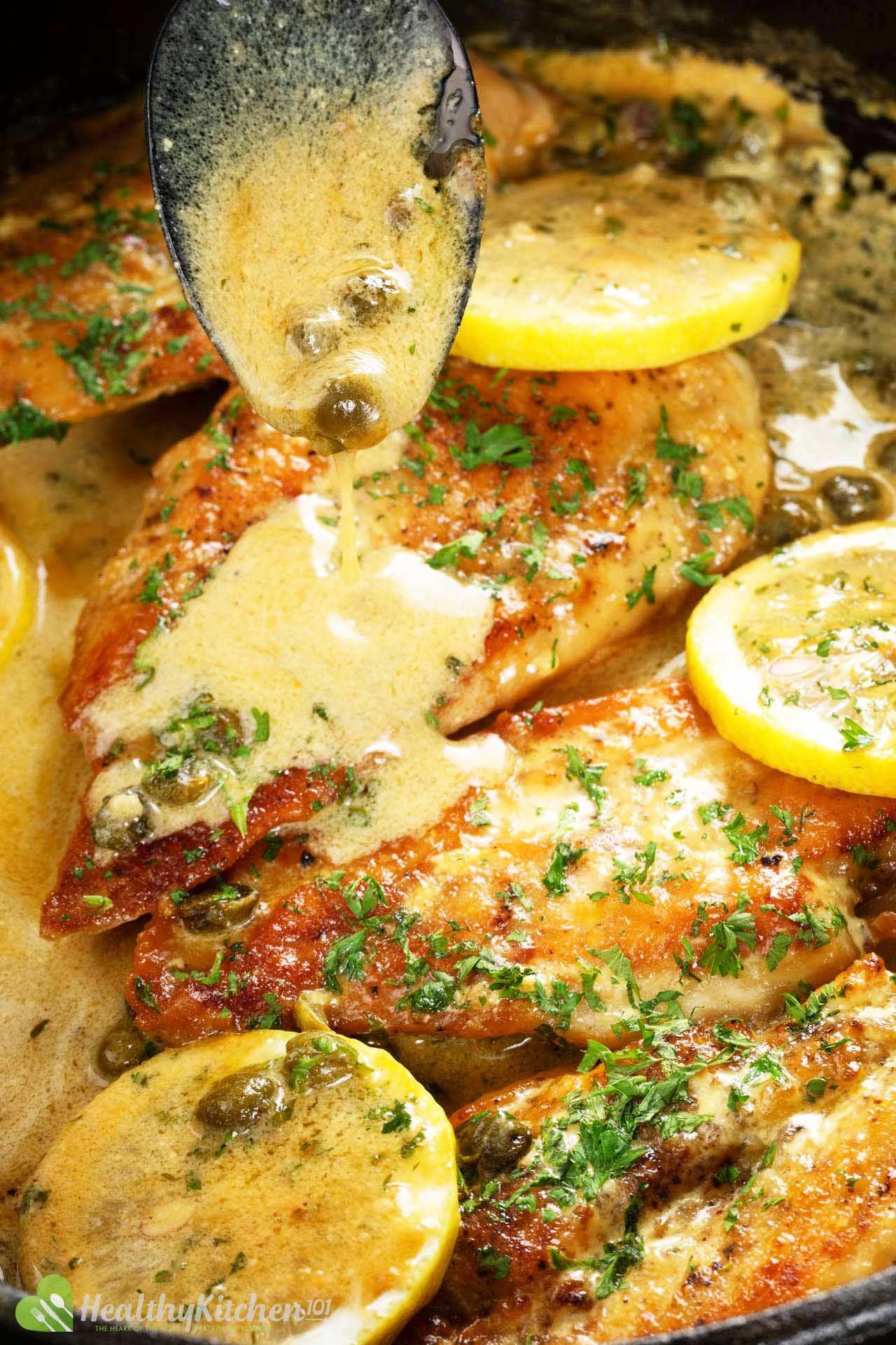 Healthy Chicken Piccata Recipe Easy Italian Chicken And Capers Recipe